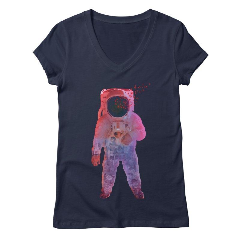 INNER SPACE Women's V-Neck by jrtoyman's Artist Shop