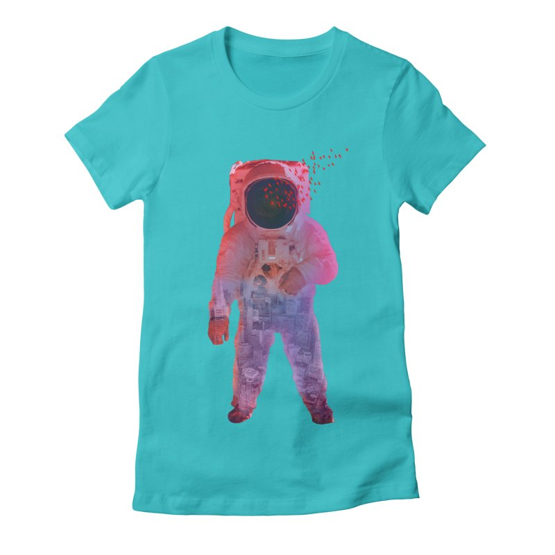 INNER SPACE Women's Fitted T-Shirt by jrtoyman's Artist Shop
