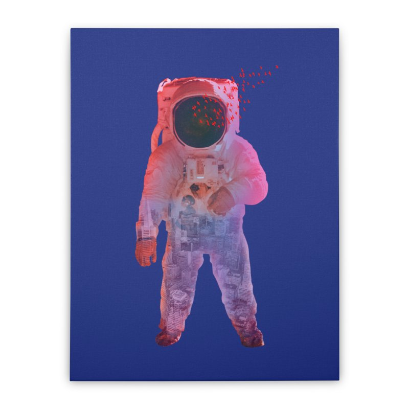 INNER SPACE Home Stretched Canvas by jrtoyman's Artist Shop