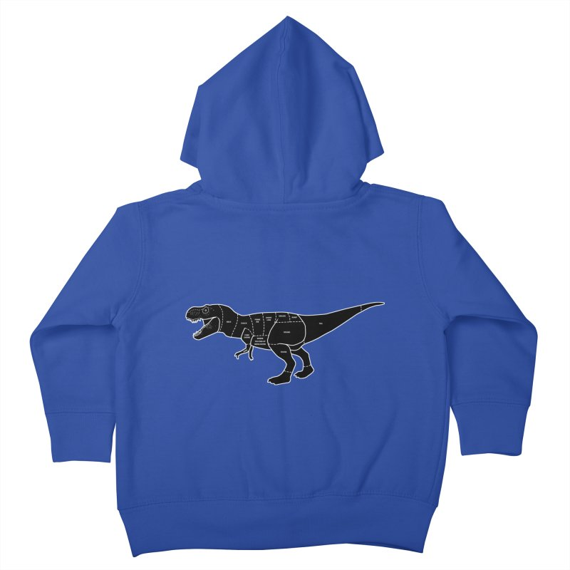 JURASSIC MEAT CUTS Kids Toddler Zip-Up Hoody by jrtoyman's Artist Shop