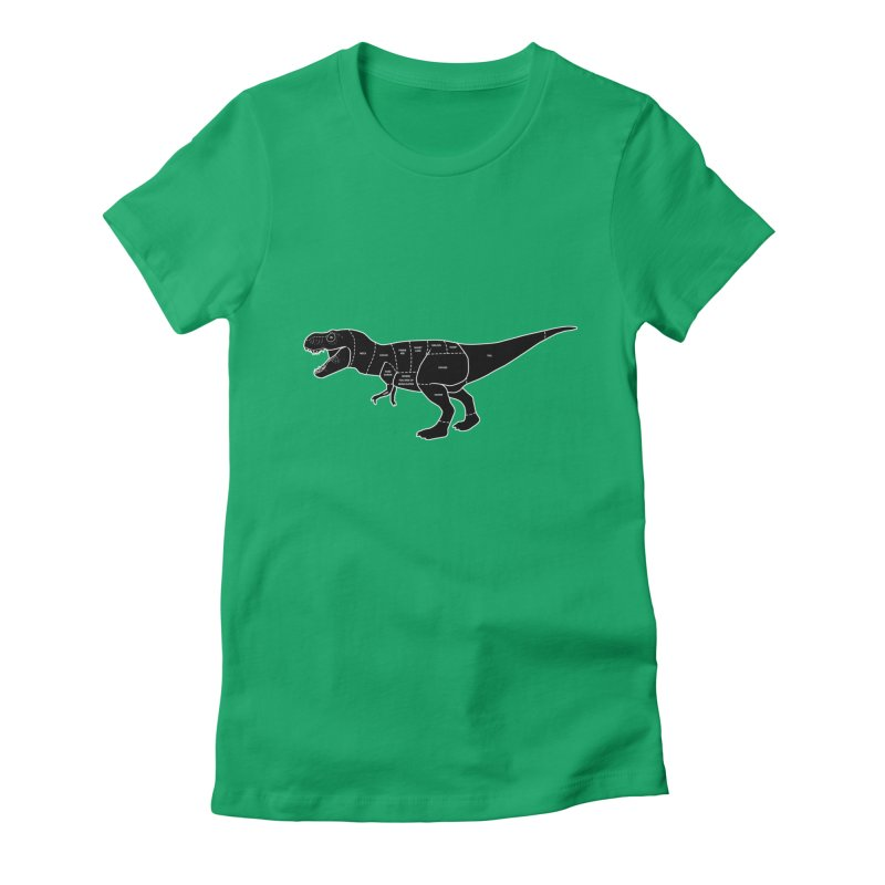 JURASSIC MEAT CUTS Women's Fitted T-Shirt by jrtoyman's Artist Shop