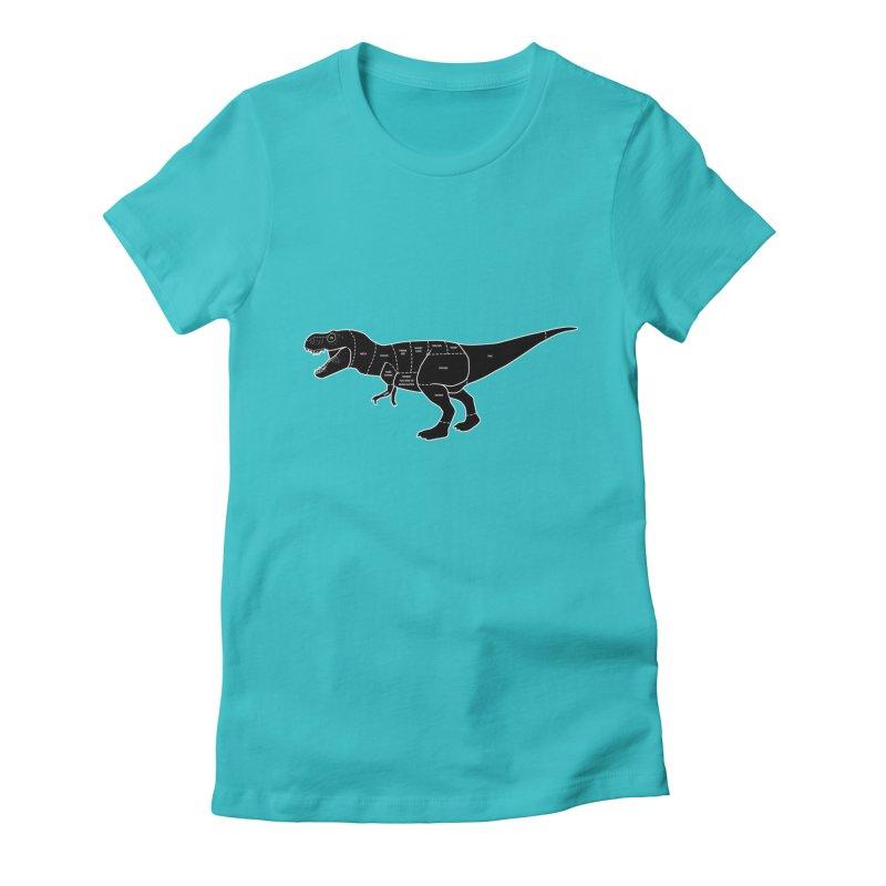 JURASSIC MEAT CUTS Women's Fitted T-Shirt by jrtoyman's Artist Shop