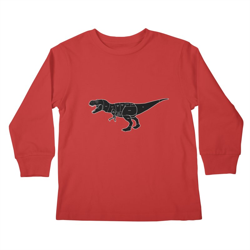 JURASSIC MEAT CUTS Kids Longsleeve T-Shirt by jrtoyman's Artist Shop