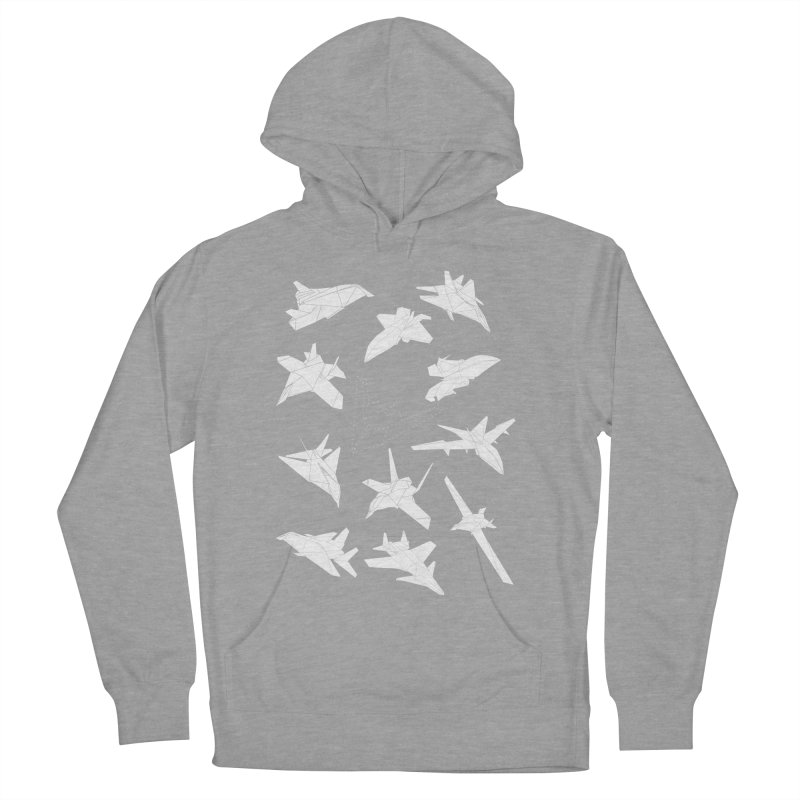 STEALTH PAPER PLANE (BLACK & WHITE) Women's Pullover Hoody by jrtoyman's Artist Shop