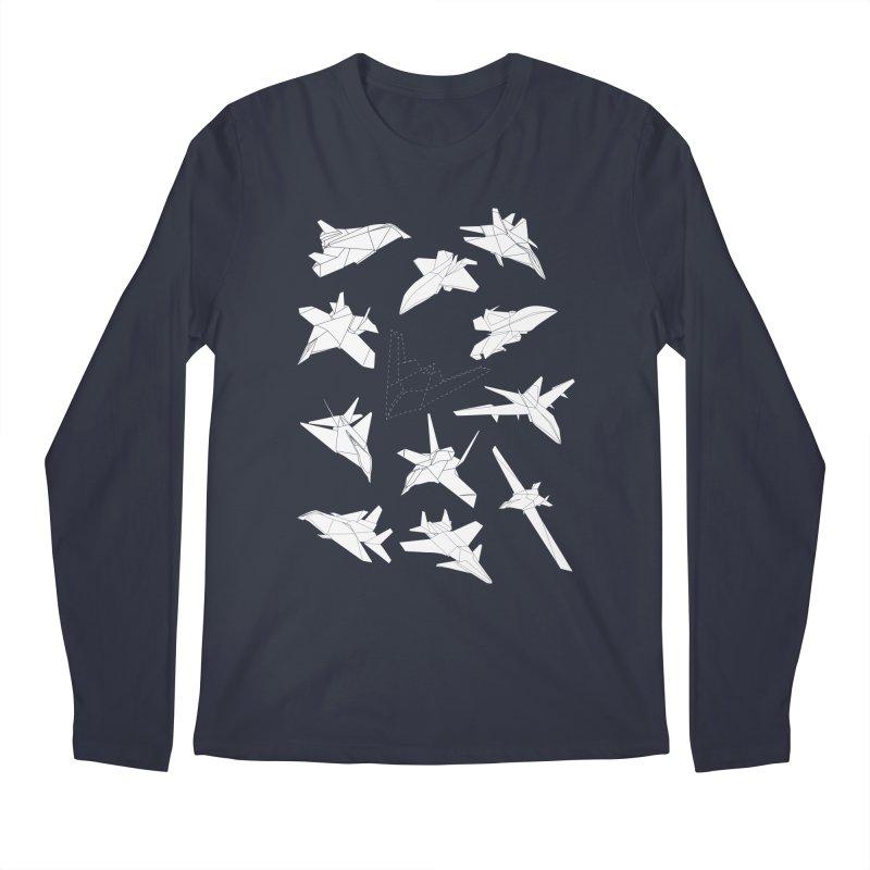 STEALTH PAPER PLANE (BLACK & WHITE) Men's Longsleeve T-Shirt by jrtoyman's Artist Shop