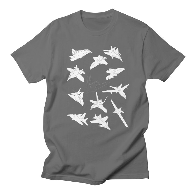 STEALTH PAPER PLANE (BLACK & WHITE) Men's T-shirt by jrtoyman's Artist Shop
