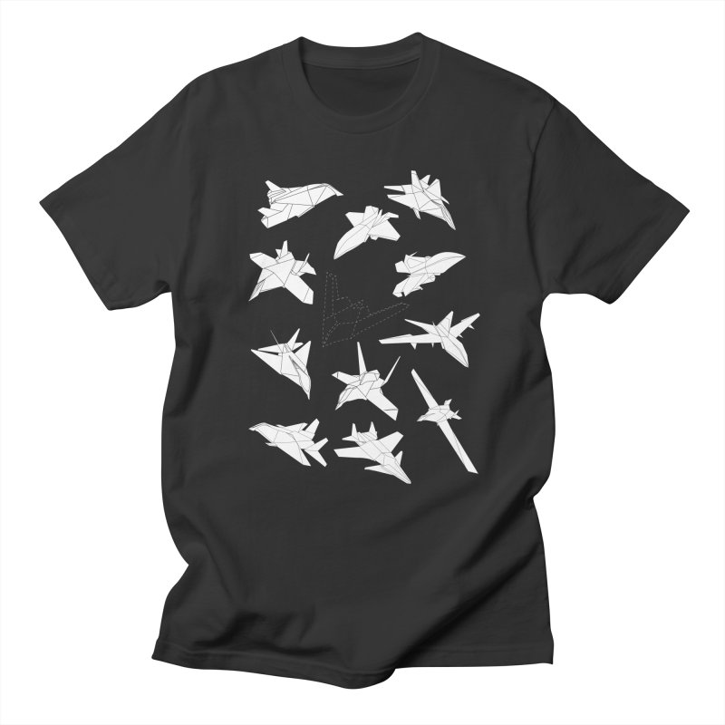 STEALTH PAPER PLANE (BLACK & WHITE) Men's T-shirt by jrtoyman's Artist Shop