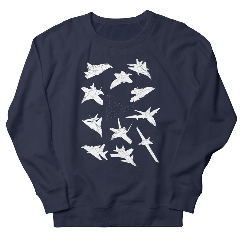 STEALTH PAPER PLANE (BLACK & WHITE) Women's Sweatshirt by jrtoyman's Artist Shop