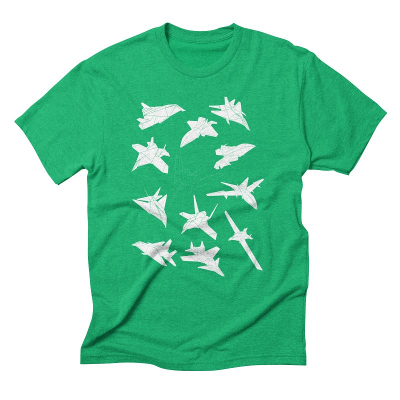 STEALTH PAPER PLANE (BLACK & WHITE) Men's Triblend T-Shirt by jrtoyman's Artist Shop