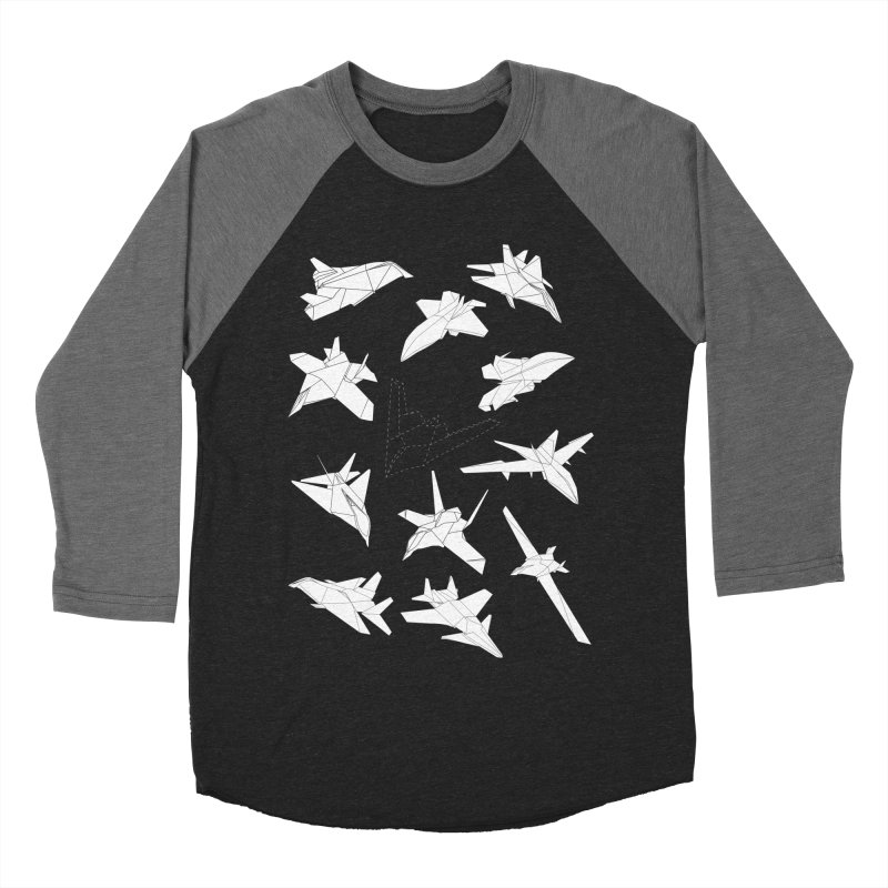 STEALTH PAPER PLANE (BLACK & WHITE) Men's Baseball Triblend T-Shirt by jrtoyman's Artist Shop