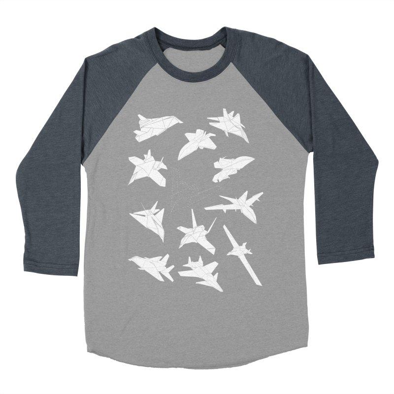 STEALTH PAPER PLANE (BLACK & WHITE) Men's Baseball Triblend T-Shirt by jrtoyman's Artist Shop