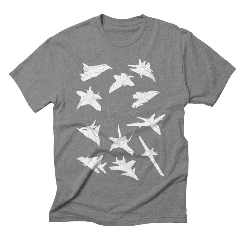 STEALTH PAPER PLANE (BLACK & WHITE) Men's Triblend T-shirt by jrtoyman's Artist Shop