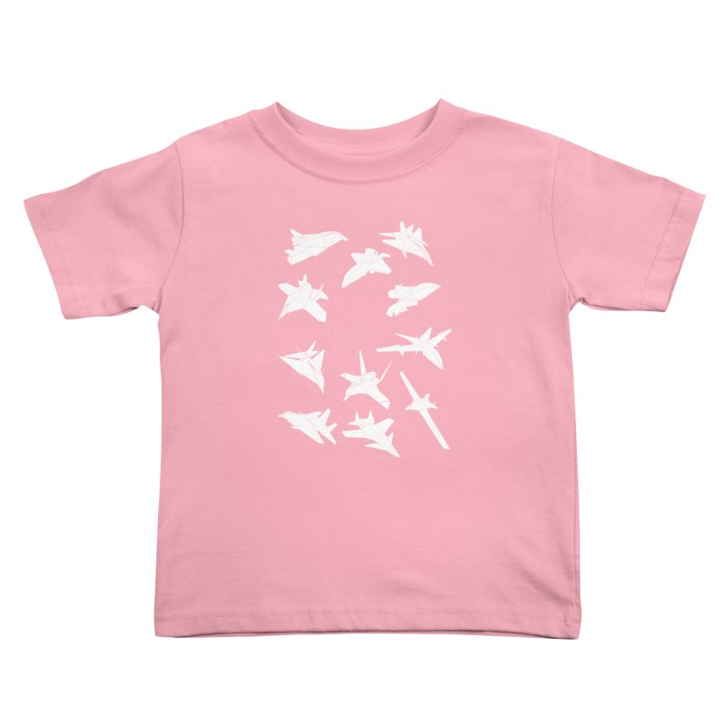 STEALTH PAPER PLANE (BLACK & WHITE) Kids Toddler T-Shirt by jrtoyman's Artist Shop