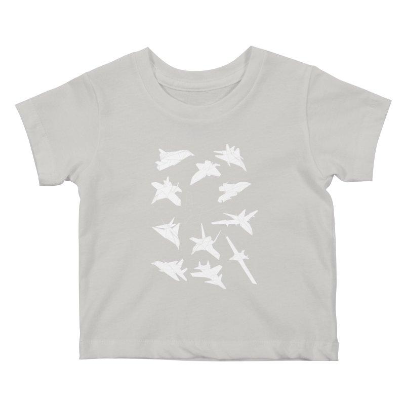 STEALTH PAPER PLANE (BLACK & WHITE) Kids Baby T-Shirt by jrtoyman's Artist Shop