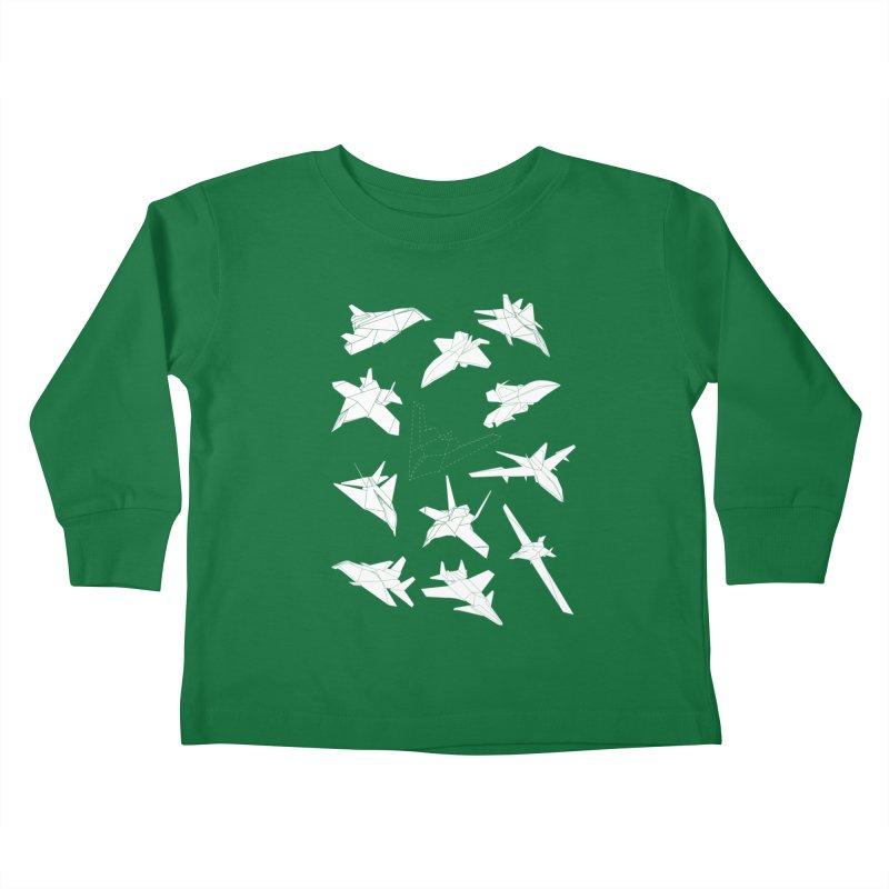 STEALTH PAPER PLANE (BLACK & WHITE) Kids Toddler Longsleeve T-Shirt by jrtoyman's Artist Shop