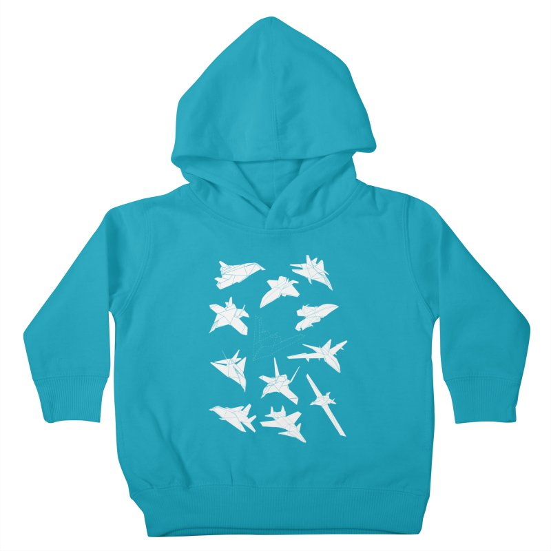STEALTH PAPER PLANE (BLACK & WHITE) Kids Toddler Pullover Hoody by jrtoyman's Artist Shop