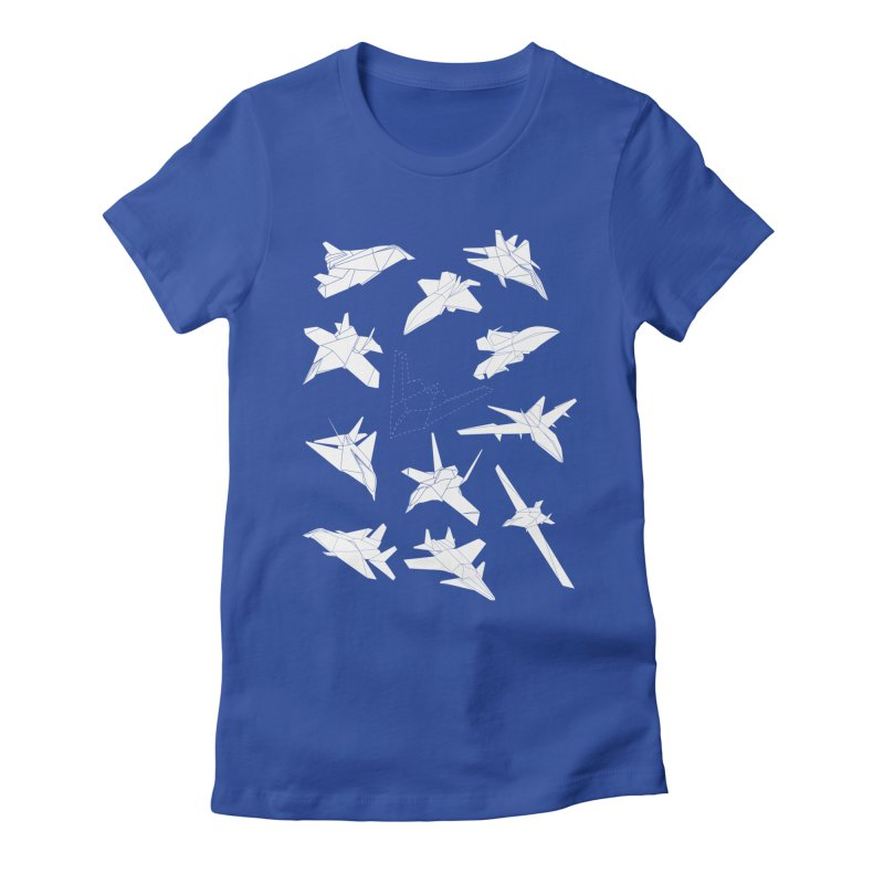 STEALTH PAPER PLANE (BLACK & WHITE) Women's Fitted T-Shirt by jrtoyman's Artist Shop