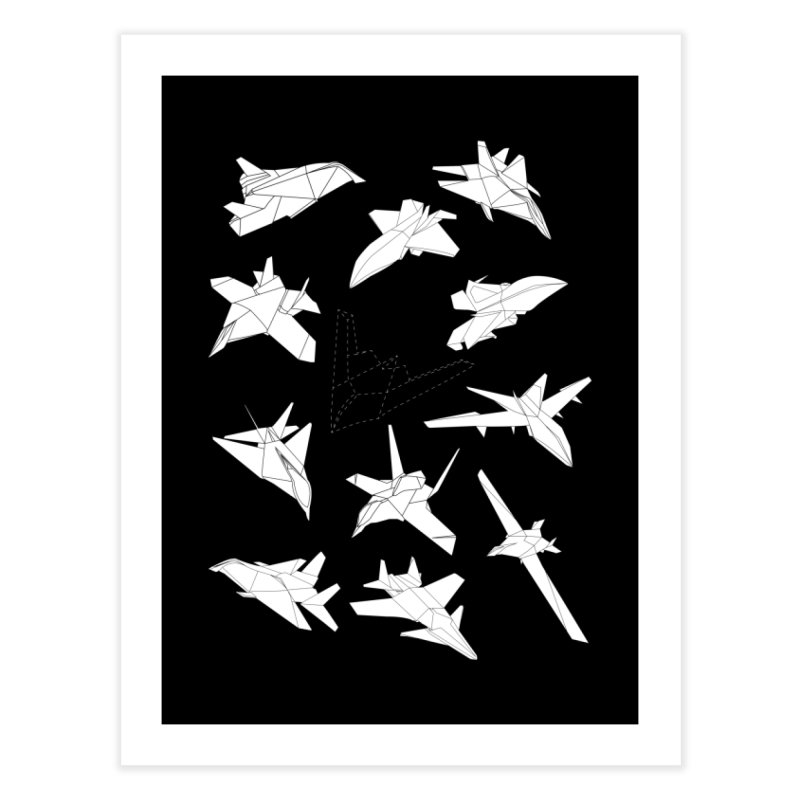 STEALTH PAPER PLANE (BLACK & WHITE)   by jrtoyman's Artist Shop