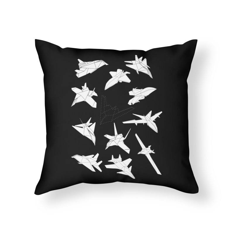 STEALTH PAPER PLANE (BLACK & WHITE) Home Throw Pillow by jrtoyman's Artist Shop