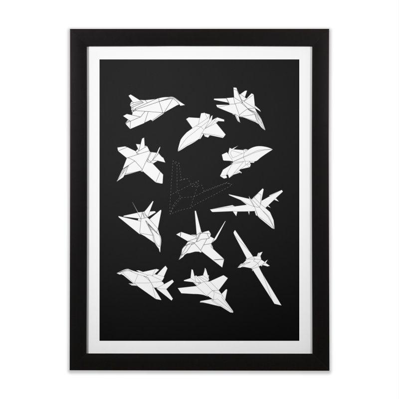STEALTH PAPER PLANE (BLACK & WHITE) Home Framed Fine Art Print by jrtoyman's Artist Shop