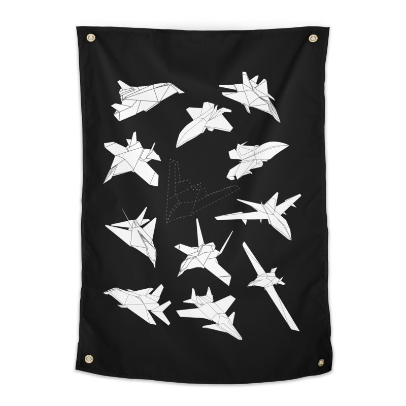 STEALTH PAPER PLANE (BLACK & WHITE) Home Tapestry by jrtoyman's Artist Shop