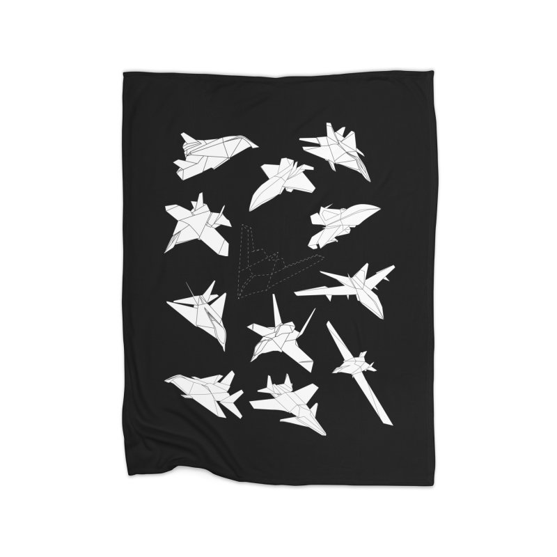STEALTH PAPER PLANE (BLACK & WHITE) Home Blanket by jrtoyman's Artist Shop