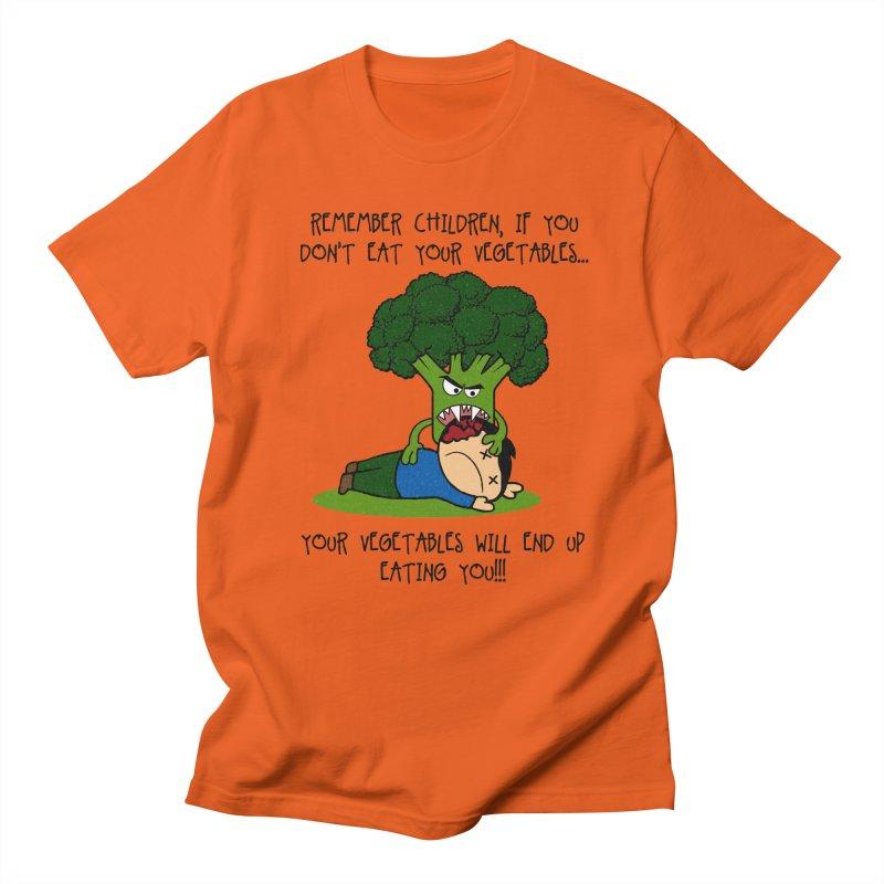 EAT YOUR VEGGIES! Men's T-shirt by jrtoyman's Artist Shop