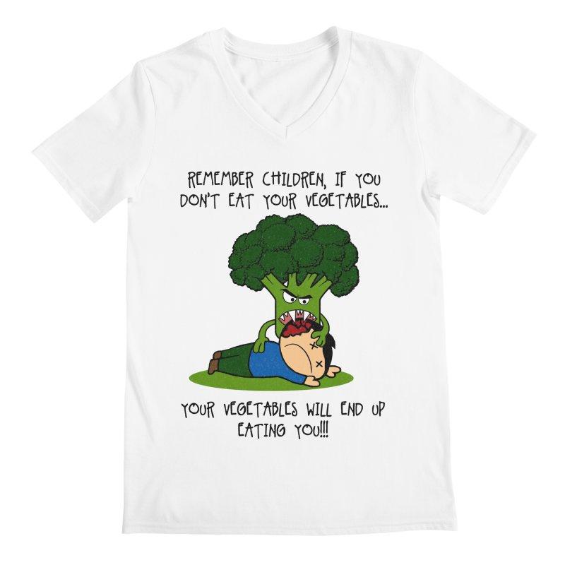 EAT YOUR VEGGIES! Men's V-Neck by jrtoyman's Artist Shop