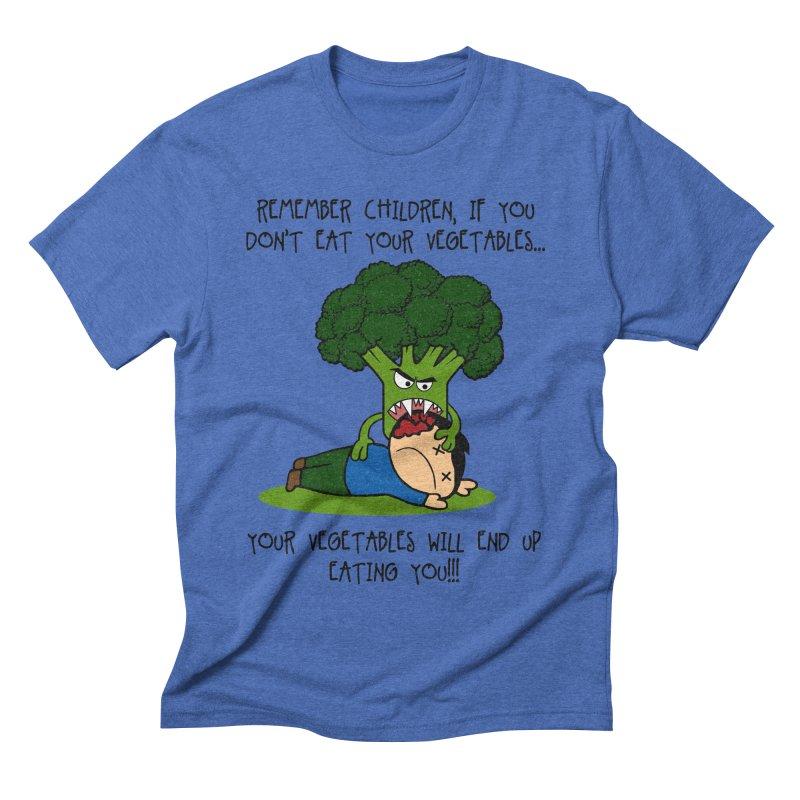 EAT YOUR VEGGIES! Men's Triblend T-shirt by jrtoyman's Artist Shop