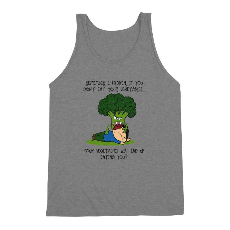 EAT YOUR VEGGIES! Men's Triblend Tank by jrtoyman's Artist Shop