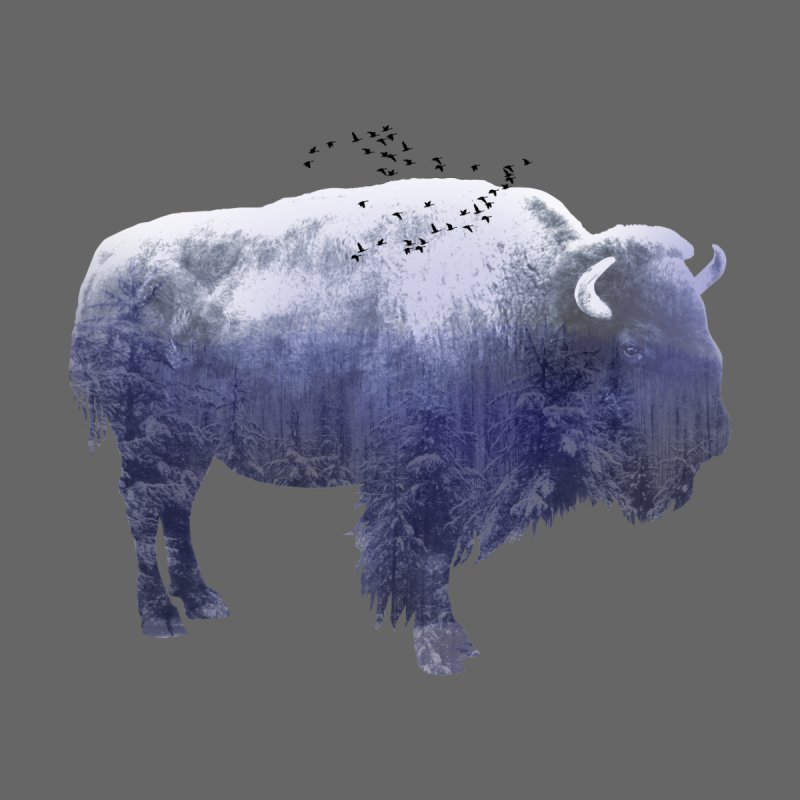 WINTER BISON Home Fine Art Print by jrtoyman's Artist Shop