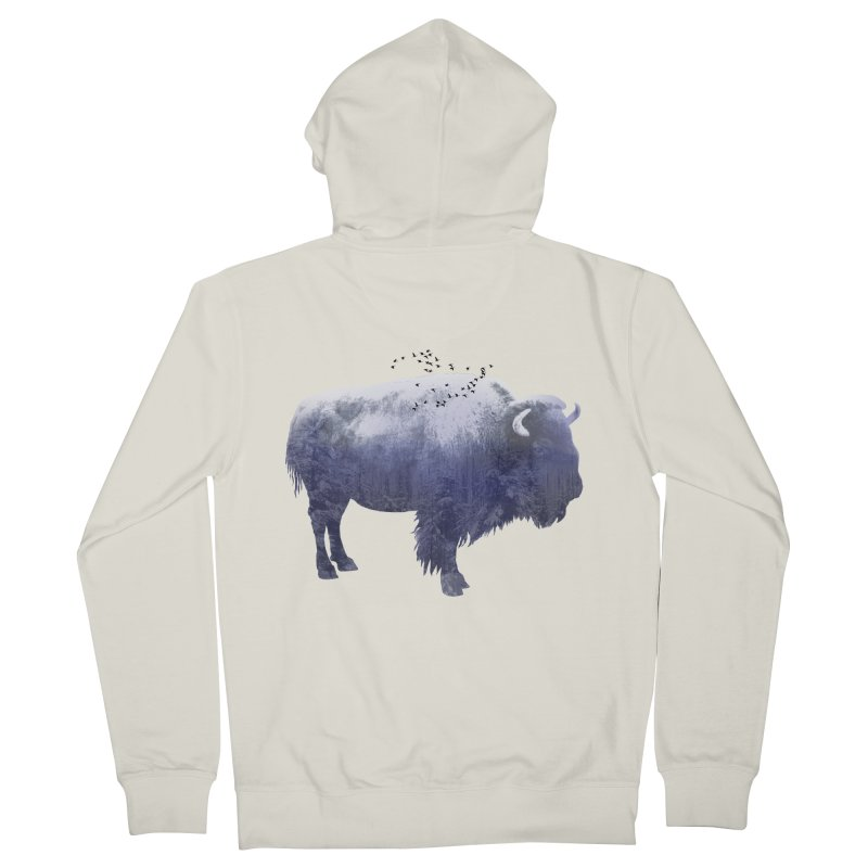 WINTER BISON Women's Zip-Up Hoody by jrtoyman's Artist Shop