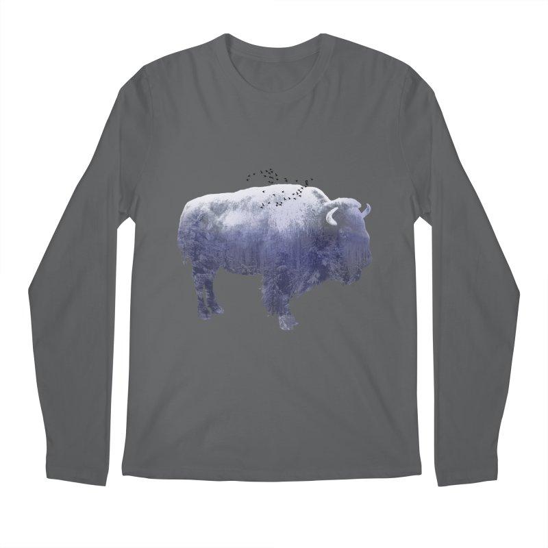 WINTER BISON Men's Longsleeve T-Shirt by jrtoyman's Artist Shop