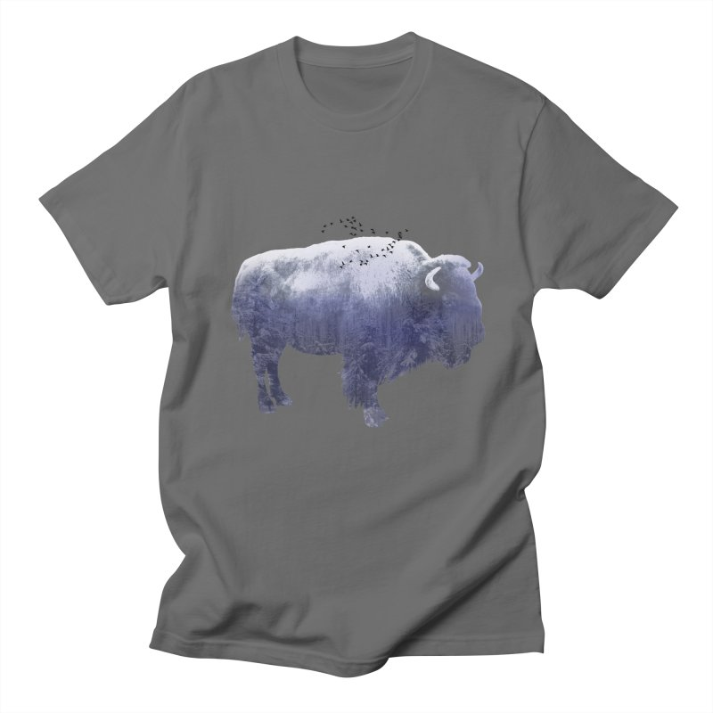WINTER BISON Men's T-Shirt by jrtoyman's Artist Shop