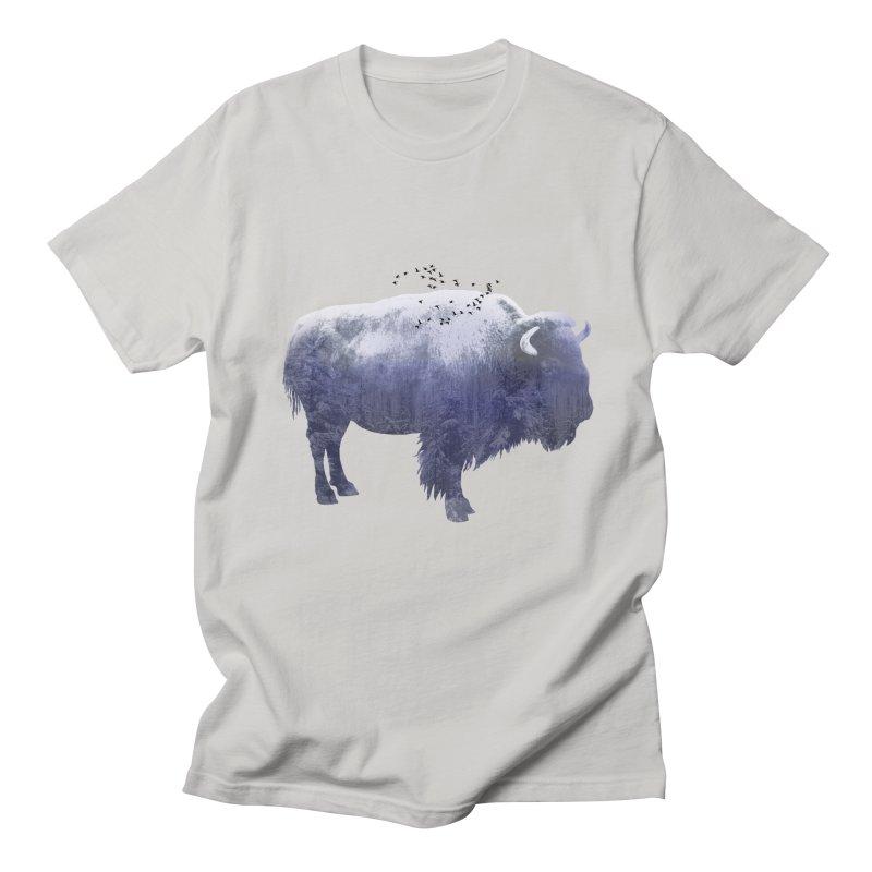 WINTER BISON Men's T-Shirt by jrtoyman's Artist Shop