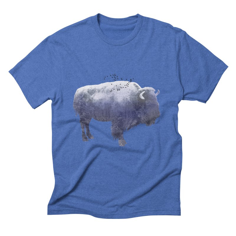 WINTER BISON Men's Triblend T-Shirt by jrtoyman's Artist Shop