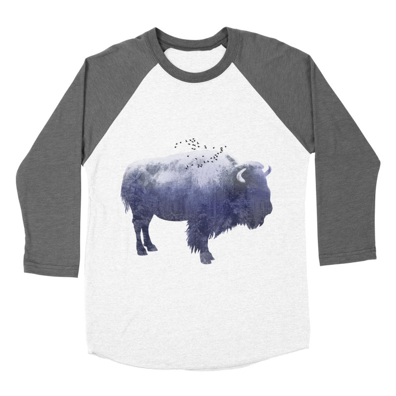 WINTER BISON Women's Baseball Triblend T-Shirt by jrtoyman's Artist Shop