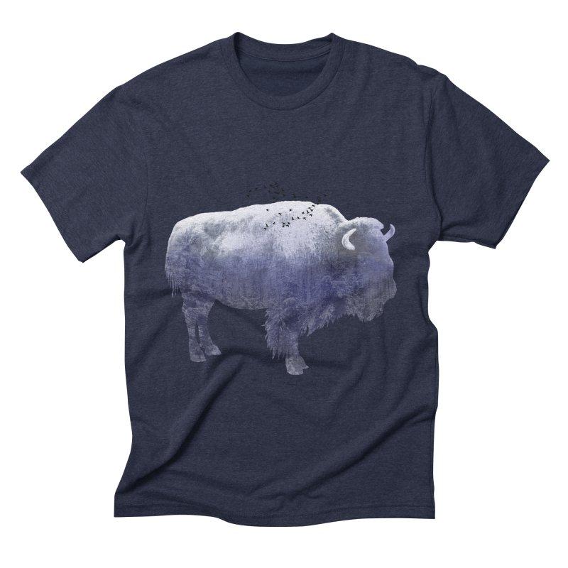 WINTER BISON Men's Triblend T-shirt by jrtoyman's Artist Shop