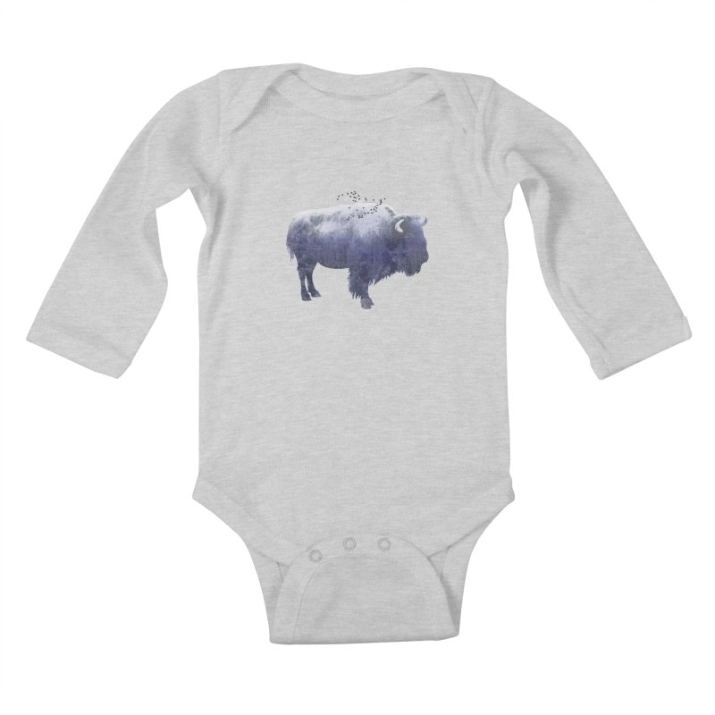 WINTER BISON Kids Baby Longsleeve Bodysuit by jrtoyman's Artist Shop