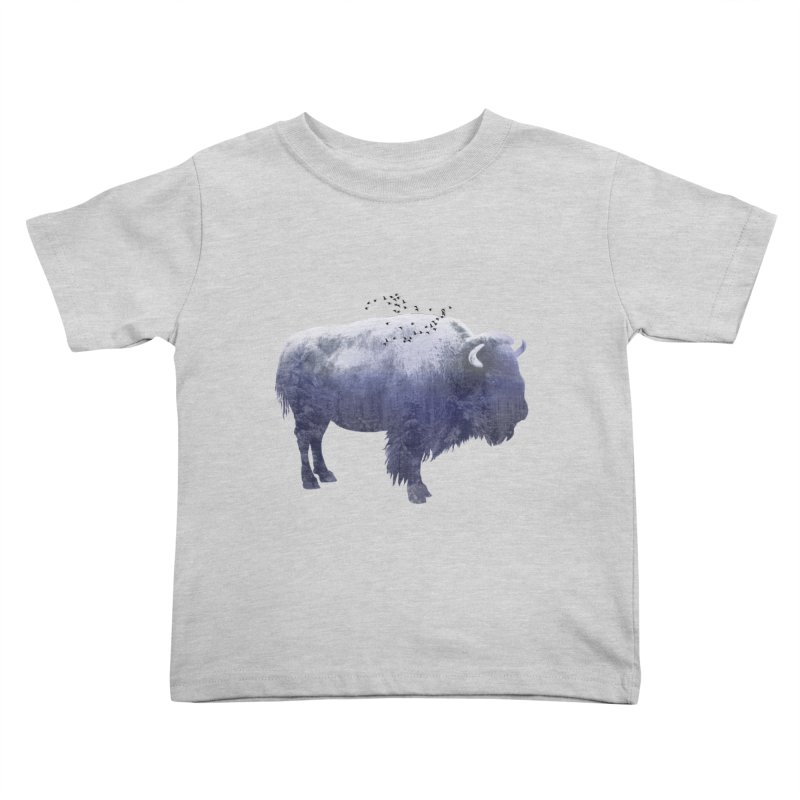 WINTER BISON Kids Toddler T-Shirt by jrtoyman's Artist Shop