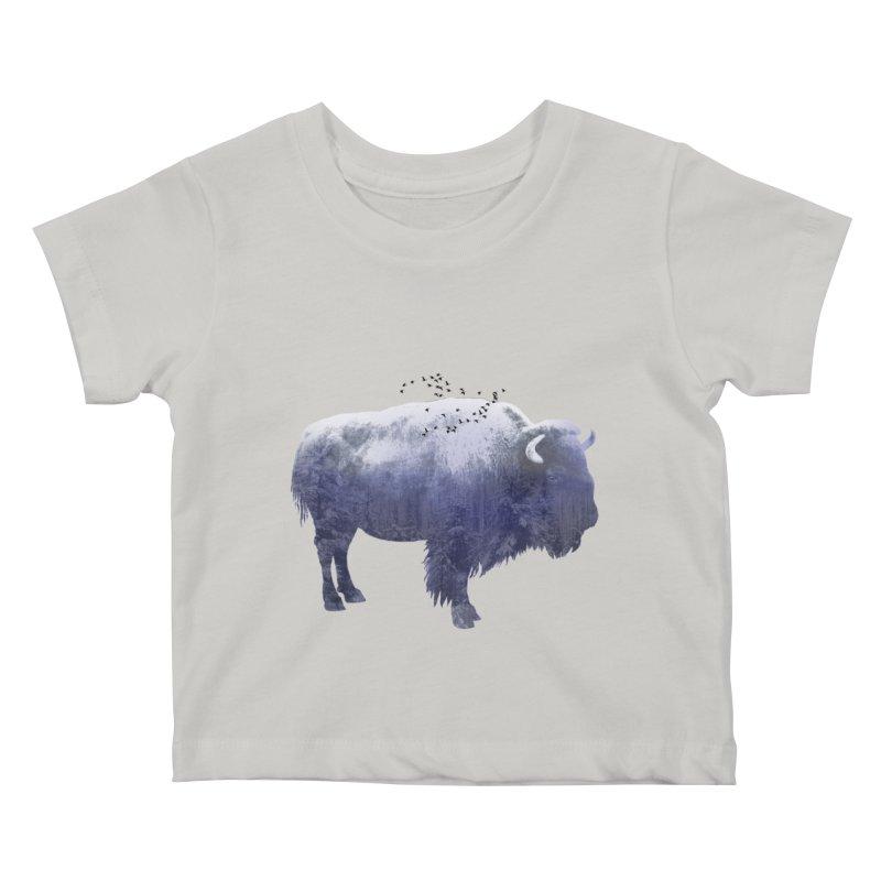 WINTER BISON Kids Baby T-Shirt by jrtoyman's Artist Shop