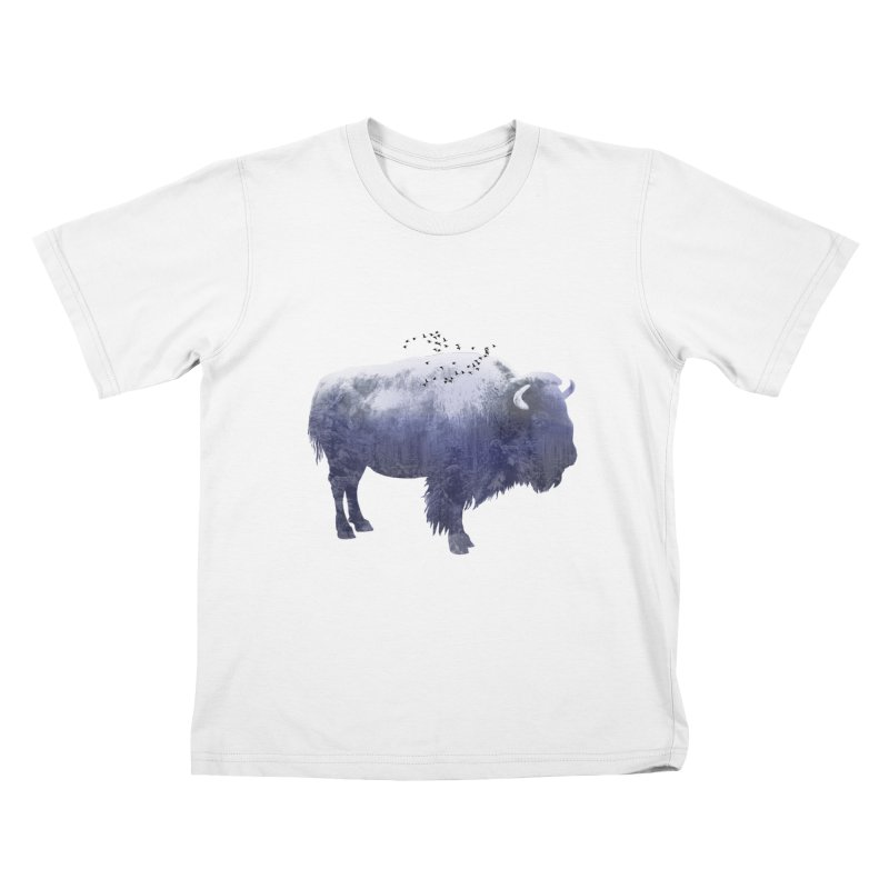 WINTER BISON Kids Toddler T-Shirt by jrtoyman's Artist Shop