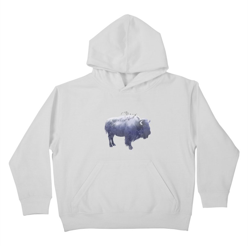 WINTER BISON Kids Pullover Hoody by jrtoyman's Artist Shop