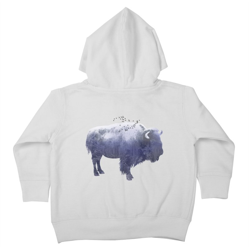 WINTER BISON Kids Toddler Zip-Up Hoody by jrtoyman's Artist Shop