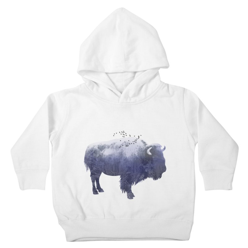 WINTER BISON Kids Toddler Pullover Hoody by jrtoyman's Artist Shop