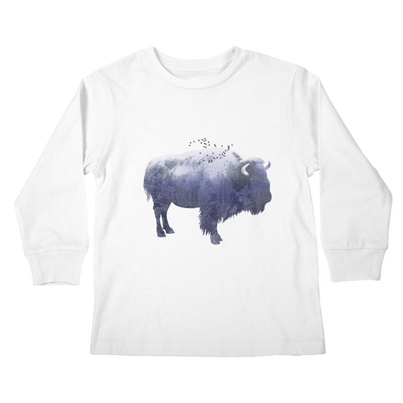 WINTER BISON Kids Longsleeve T-Shirt by jrtoyman's Artist Shop