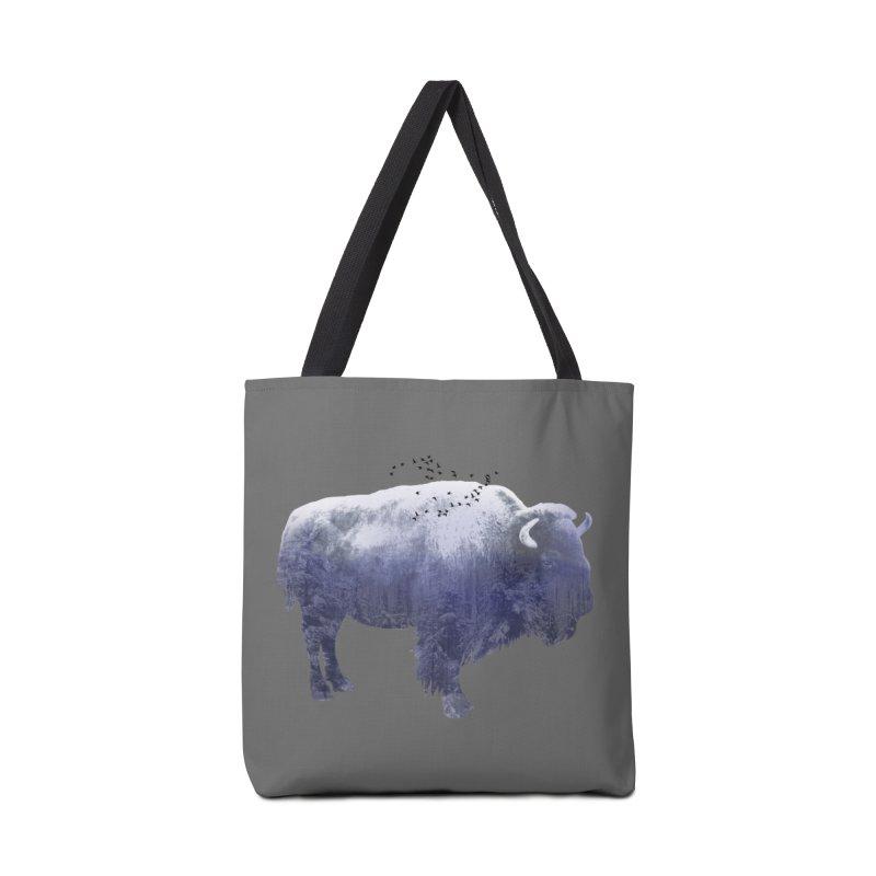 WINTER BISON Accessories Bag by jrtoyman's Artist Shop