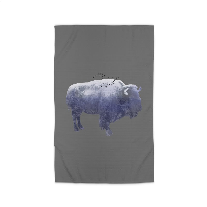 WINTER BISON Home Rug by jrtoyman's Artist Shop