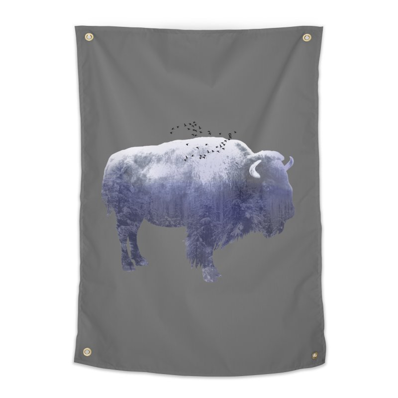 WINTER BISON Home Tapestry by jrtoyman's Artist Shop