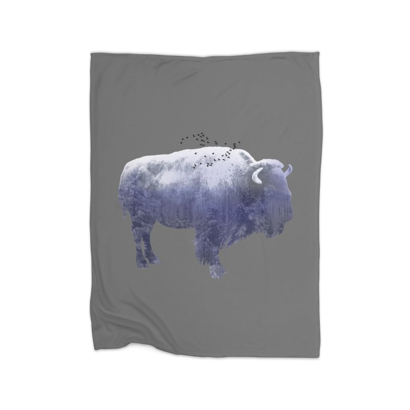 WINTER BISON Home Blanket by jrtoyman's Artist Shop